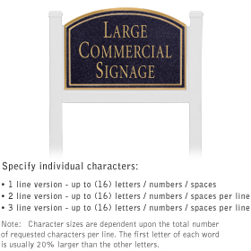 Salsbury 1521BGN1 Commercial Address Sign