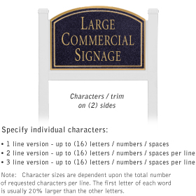 Salsbury 1521BGN2 Commercial Address Sign