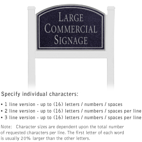 Salsbury 1521BSN1 Commercial Address Sign