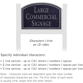 Salsbury 1521BSN2 Commercial Address Sign