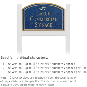 Salsbury 1521CGD1 Commercial Address Sign