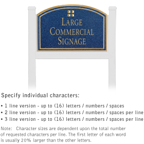 Salsbury 1521CGG1 Commercial Address Sign