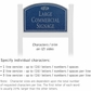 Salsbury 1521CSF2 Commercial Address Sign