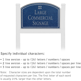 Salsbury 1521CSG1 Commercial Address Sign