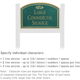 Salsbury 1521JGF1 Commercial Address Sign