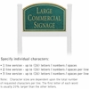 Salsbury 1521JGN1 Commercial Address Sign