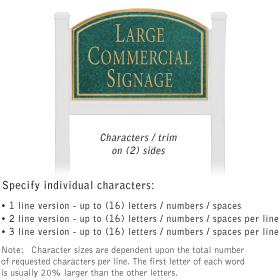Salsbury 1521JGN2 Commercial Address Sign