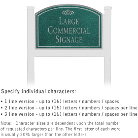 Salsbury 1521JSF1 Commercial Address Sign