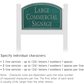 Salsbury 1521JSN1 Commercial Address Sign