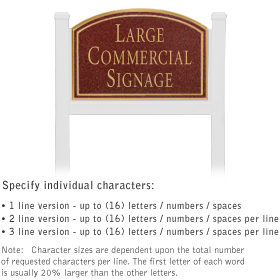 Salsbury 1521MGN1 Commercial Address Sign