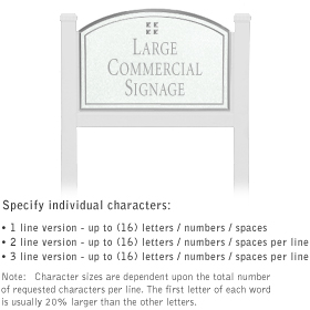 Salsbury 1521WSG1 Commercial Address Sign