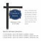 Salsbury 1542CSD2 Commercial Address Sign