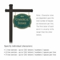 Salsbury 1542JGF1 Commercial Address Sign