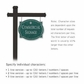 Salsbury 1542JSS1 Commercial Address Sign