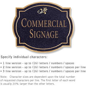 Commercial Wall Plaques - Classic 1-Sided