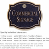 Salsbury 1540BGS2 Commercial Address Sign