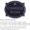 Salsbury 1540BSG Commercial Address Sign