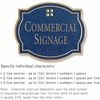 Salsbury 1540CGG Commercial Address Sign