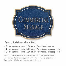 Salsbury 1540CGN Commercial Address Sign