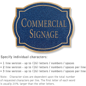 Salsbury 1540CGN2 Commercial Address Sign