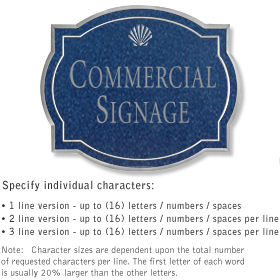 Salsbury 1540CSS2 Commercial Address Sign