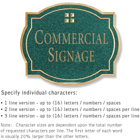 Salsbury 1540JGG2 Commercial Address Sign