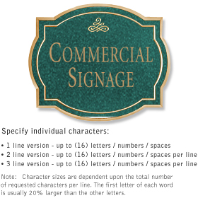 Salsbury 1540JGI Commercial Address Sign
