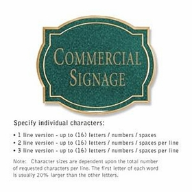 Salsbury 1540JGN Commercial Address Sign
