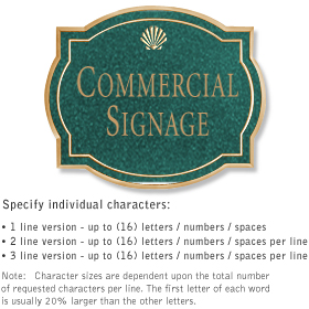 Salsbury 1540JGS2 Commercial Address Sign