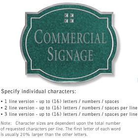 Salsbury 1540JSG2 Commercial Address Sign