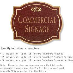 Salsbury 1540MGF Commercial Address Sign