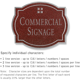 Salsbury 1540MSG2 Commercial Address Sign