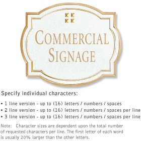 Salsbury 1540WGG2 Commercial Address Sign
