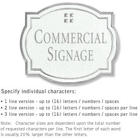 Salsbury 1540WSG Commercial Address Sign