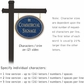 Salsbury 1532CGG2 Commercial Address Sign