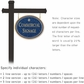 Salsbury 1532CGS1 Commercial Address Sign