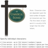 Salsbury 1532JGD1 Commercial Address Sign