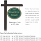 Salsbury 1532JGF2 Commercial Address Sign
