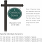 Salsbury 1532JSS2 Commercial Address Sign