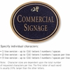 Salsbury 1530BGD Commercial Address Sign