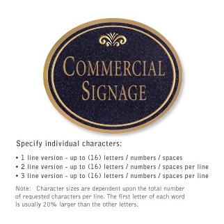 Salsbury 1530BGF2 Commercial Address Sign