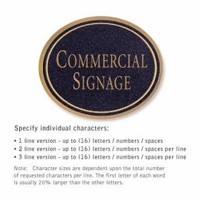 Salsbury 1530BGN2 Commercial Address Sign