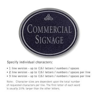 Salsbury 1530BSI Commercial Address Sign