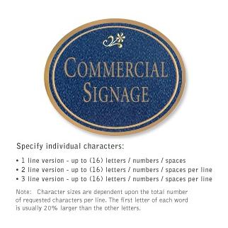Salsbury 1530CGD2 Commercial Address Sign