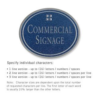 Salsbury 1530CSG Commercial Address Sign