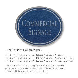 Salsbury 1530CSN2 Commercial Address Sign