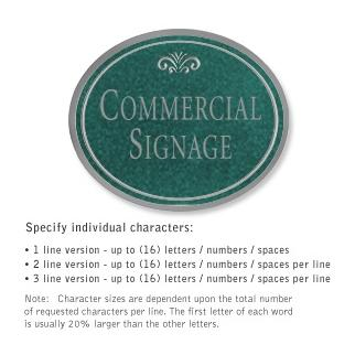 Salsbury 1530JSF Commercial Address Sign