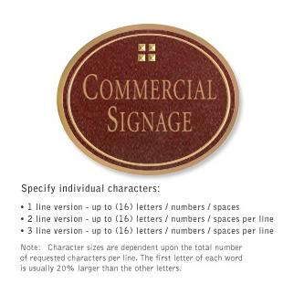 Salsbury 1530MGG2 Commercial Address Sign