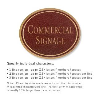 Salsbury 1530MGN2 Commercial Address Sign