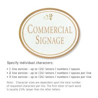 Salsbury 1530WGD2 Commercial Address Sign